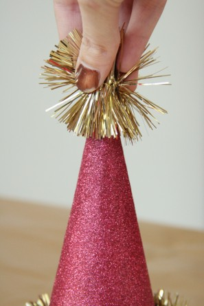 Tinsel Topped Party Hats