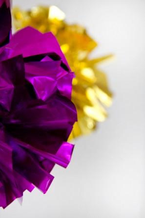 DIY Fringe Mylar Poms | Studio DIY