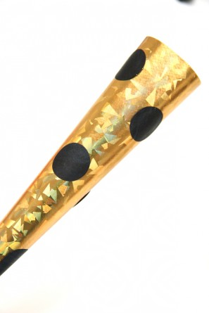 Gold and Black Polka Dot Party Horns