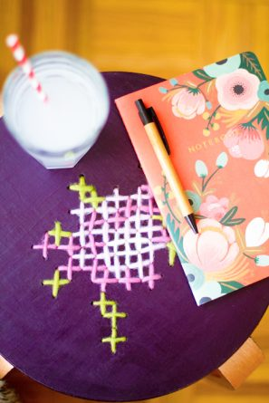 Cross Stitch Stool DIY