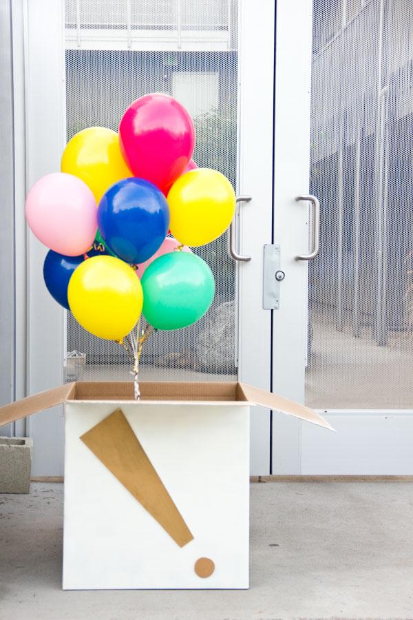 DIY Birthday Balloon Surprise