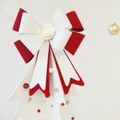 DIY Giant Bow Christmas Tree Topper