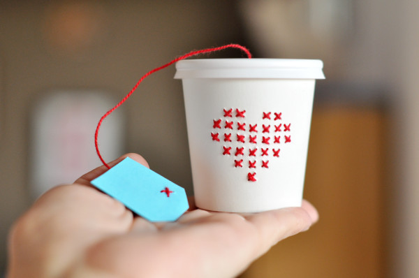 DIY Cross Stitch Cup