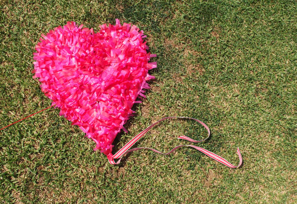 DIY Fringe Heart Kite