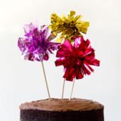 DIY Fringe Mylar Cake Toppers