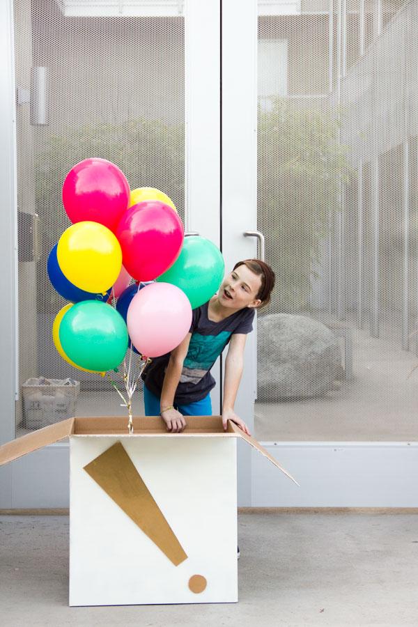 DIY Giant Birthday Balloon Surprise