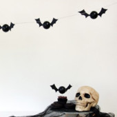 DIY Bat Garlands for The Sweetest Occasion