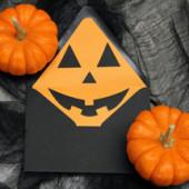 DIY Jack-o'-Lantern Envelope Liners