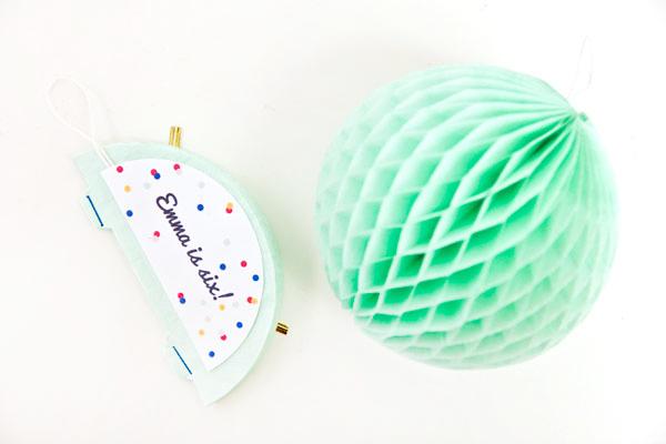 DIY Honeycomb Party Invitation Idea