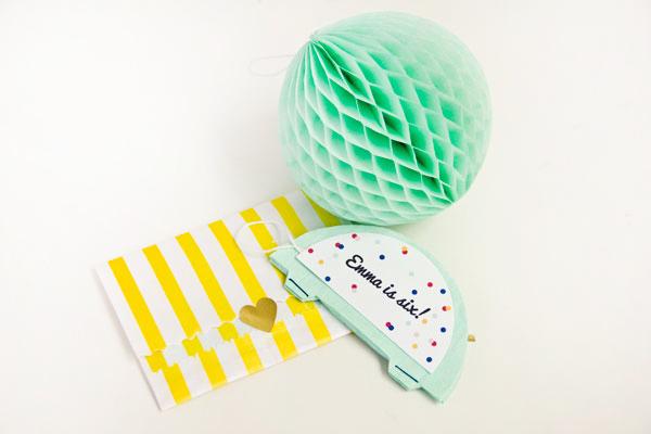 DIY Honeycomb Party Invitations