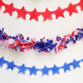Fourth of July DIY Star Streamers