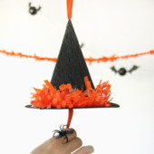 DIY Witch's Hat Piñatas