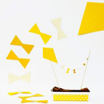 DIY Kite Garland + Cake Topper