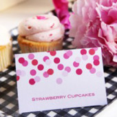 Free Printable Confetti Place Cards
