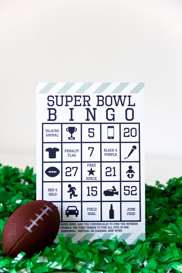 Free Printable Super Bowl 2013 Bingo