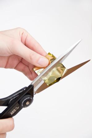 Gold Mylar Fringe DIY
