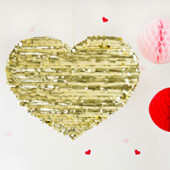 DIY Gold Heart Piñata