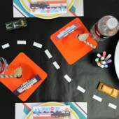 DIY Chalkboard Car Play Mat + Table Runner