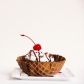 DIY Waffle Bowl Mini Cakes
