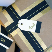 DIY Holiday Gift Packaging with Tape