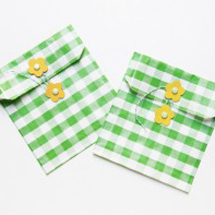 DIY Flower Envelopes + Favor Bags