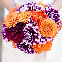 offbeat-diy-spring-inspired-california-wedding-puprle-orange-dahlia-bouquet-297x445
