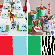 Hue It Yourself: Red, Green + Zebra Safari Party