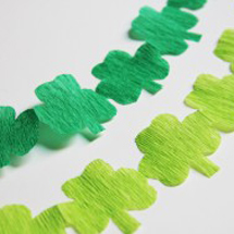 St. Patrick's Day DIY Shamrock Streamers