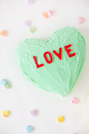 Candy Conversation Heart Cake