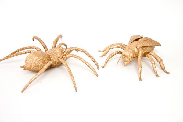 DIY Giant Gilded Bugs
