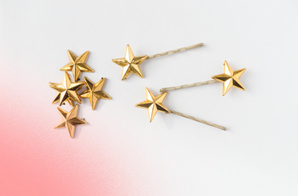 DIY Gold Star Bobby Pins