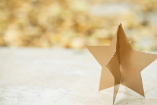 DIY Gold Stars