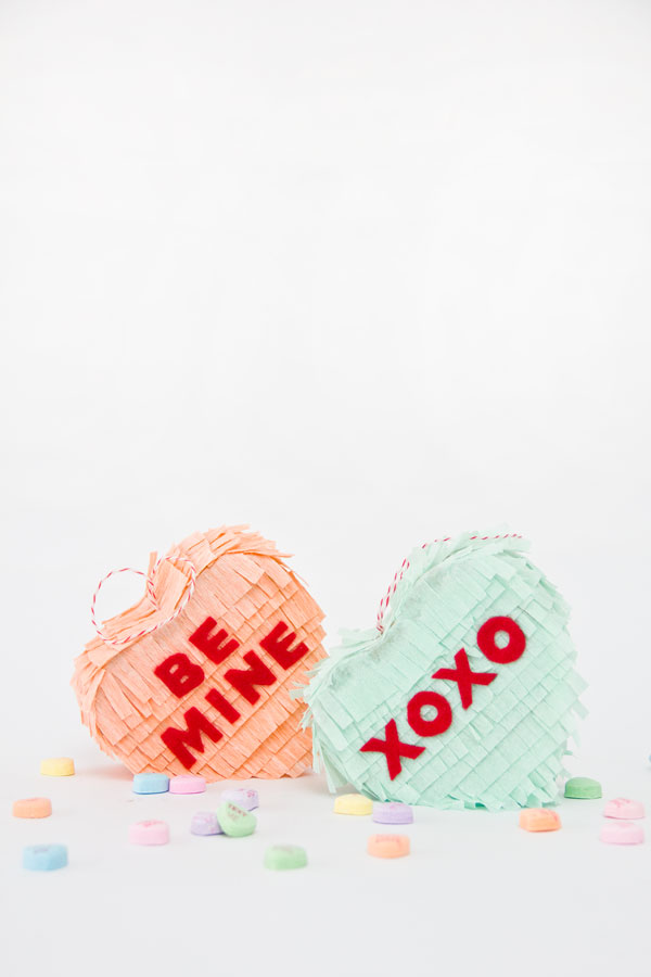 DIY Mini Coversation Heart Pinatas