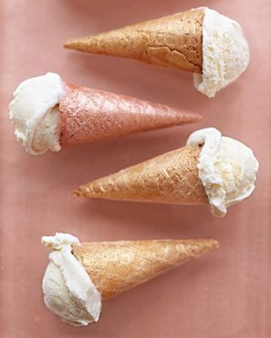 DIY Shimmer Ice Cream Cones