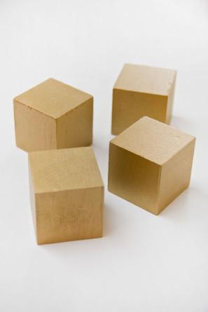 Gold Wooden Block Puzzle Valentine