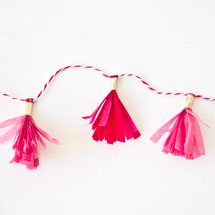 DIY Mini Tassel Garland