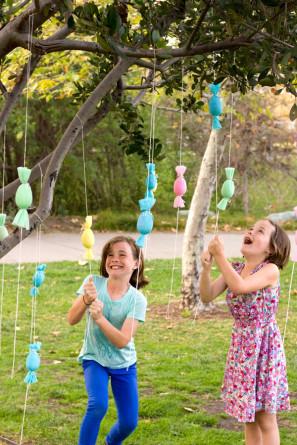 DIY Candy-Filled Egg Popper Tree