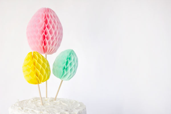 DIY Easter Egg Honeycomb Cake Topper