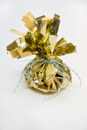 DIY Fringey Mylar Treat Bags