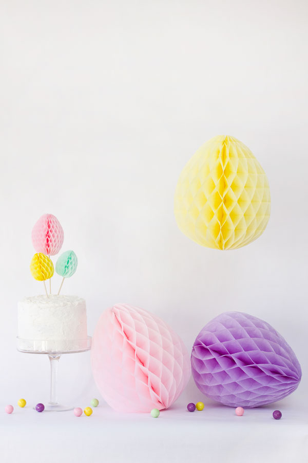 DIY Honeycomb Easter Eggs