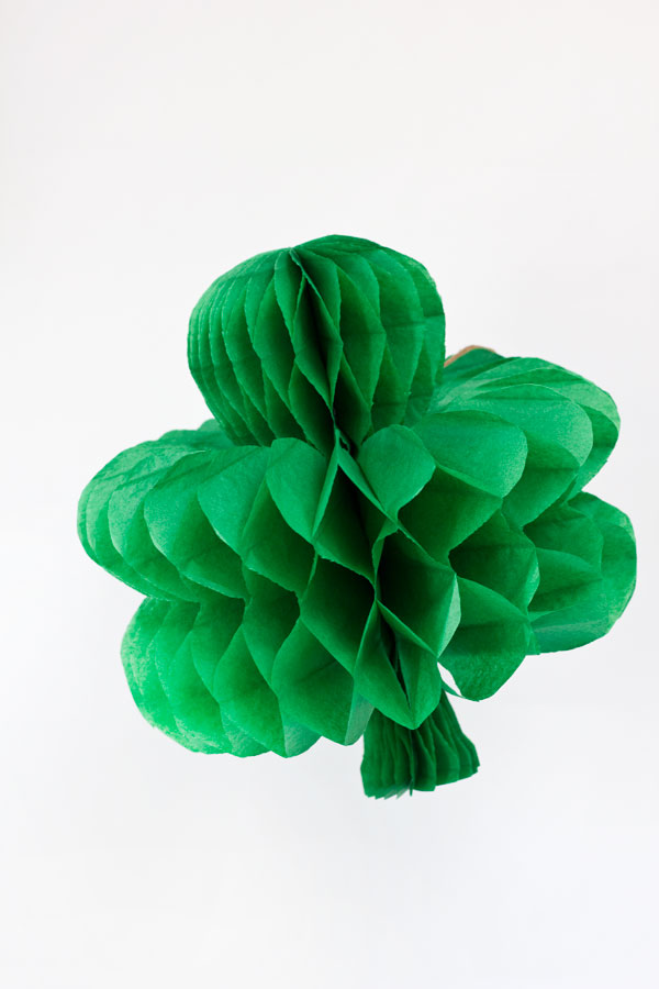 DIY Honeycomb Shamrocks for St Patricks Day