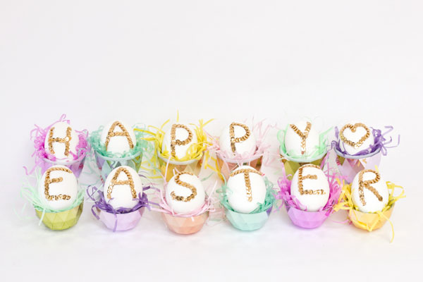 DIY Sequin Easter Eggs