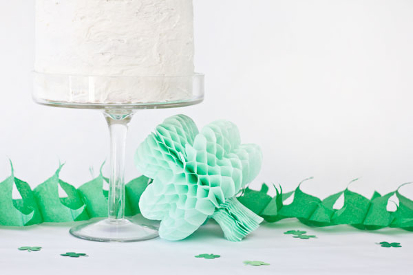DIY Shamrock Honeycombs for St Patricks Day