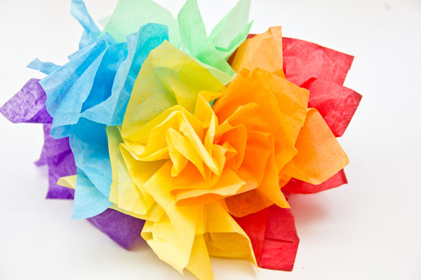 DIY Tissue Paper Rainbow Fascinator