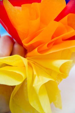 DIY Tissue Paper Rainbow Party Hat