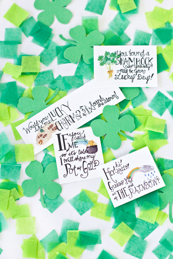 Free Printable Leprechaun Notes
