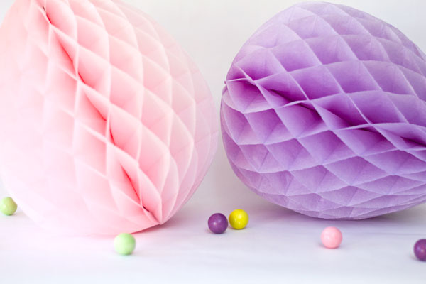 Honeycomb Easter Eggs