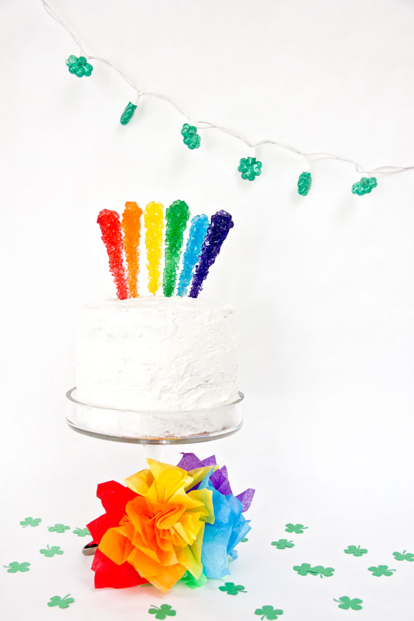 Rainbow Rock Candy Cake Topper