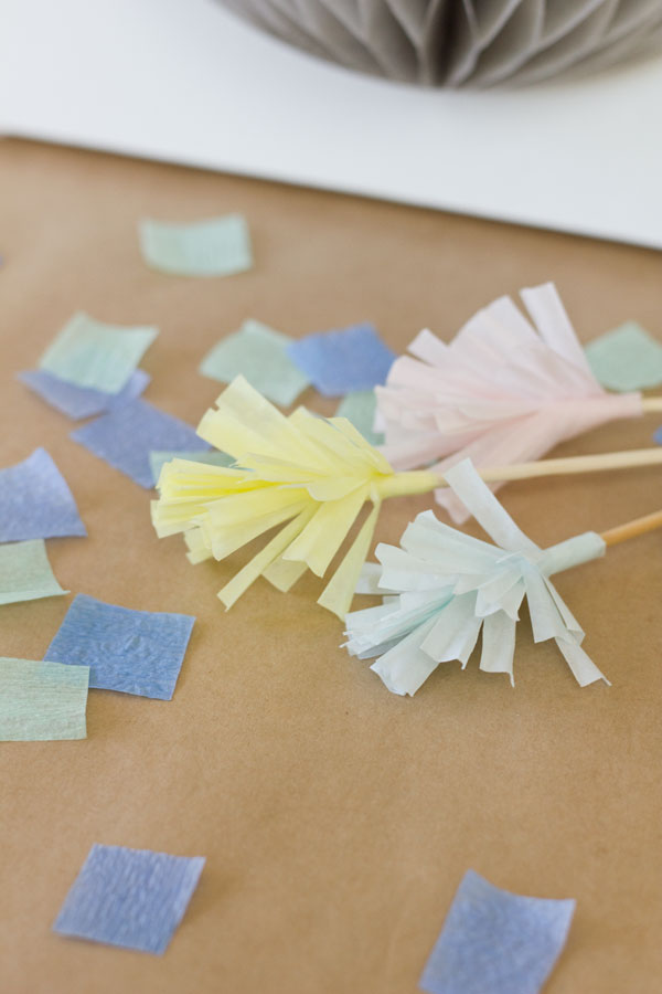 DIY Drink Stirrers from Cupcake Liners