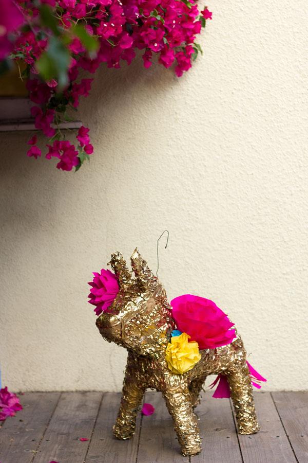 DIY Gilded Paper Flower Pinata
